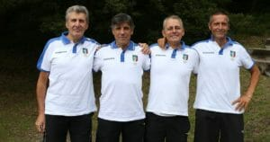 Livio Bazzoli (a sinistra) con i colleghi della commissione CAN A