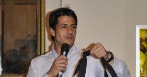Gianluca Manganiello durante la cena sezionale 2014.