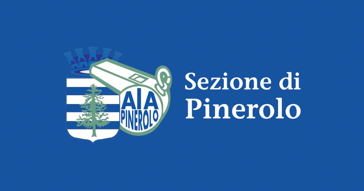 Banner blu con Logo e nome della sezione di Pinerolo.