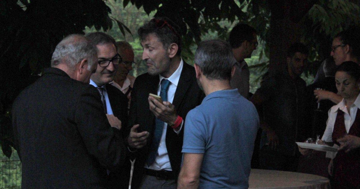 Guido Falca, Luigi Stella, Walter Giachero e Michele Dalfino alla cena sezionale 2016.