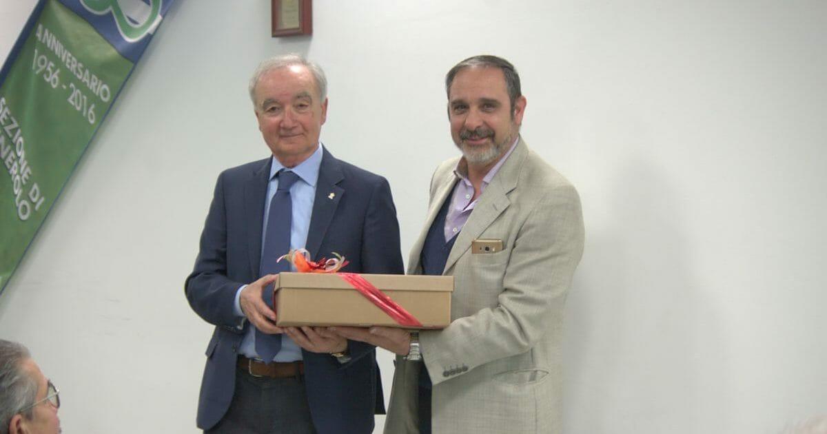 Alberto Boschi e il presidente Puddu.